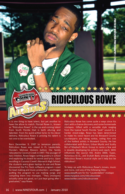 Nine5Four The Magazine Broward County All-Stars: Ridiculous Rowe