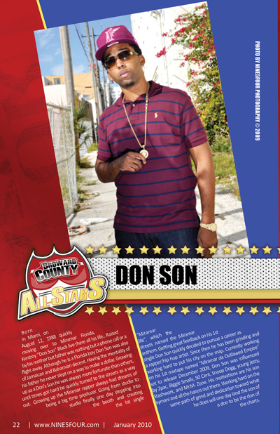 Nine5Four The Magazine Broward County All-Stars: Don Son
