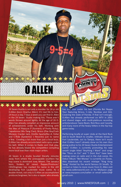 Nine5Four The Magazine Broward County All-Stars: O. Allen