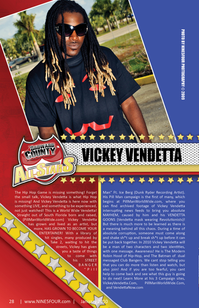 Nine5Four The Magazine Broward County All-Stars: Vickey Vendetta