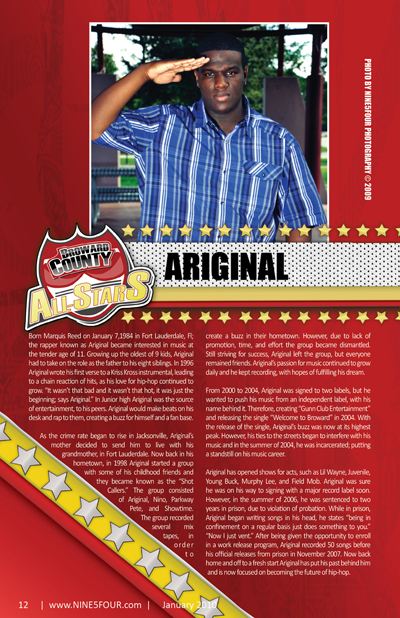 Nine5Four The Magazine Broward County All-Stars: Ariginal