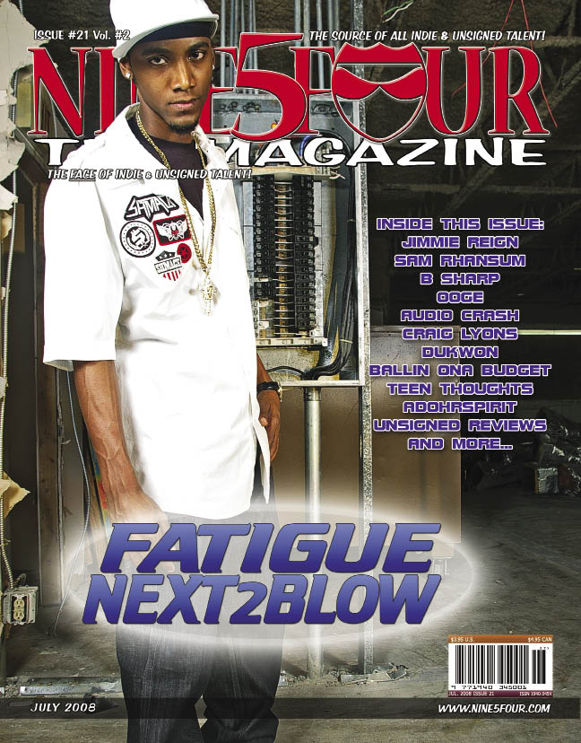 Nine5Four The Magazine July 2007 Back Cover Fatigue