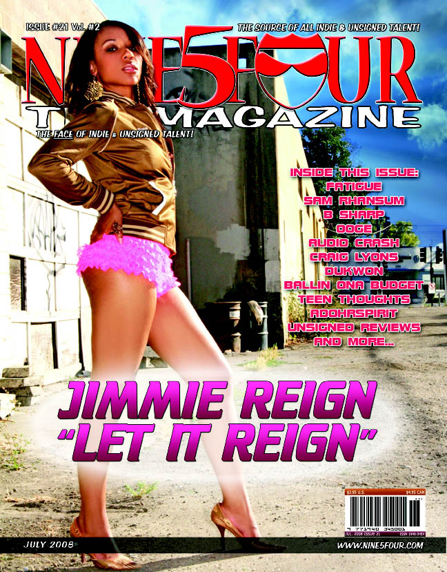 Jimmie Reign Front Cover Nine5Four The Magazine Featured Artist