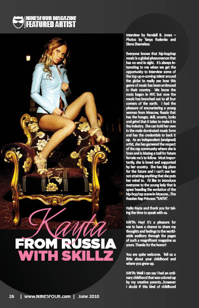 Nine5Four The Magazine Featured Artist Kayta Russian Princess