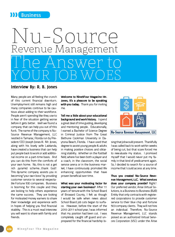Nu Source Revenue Management