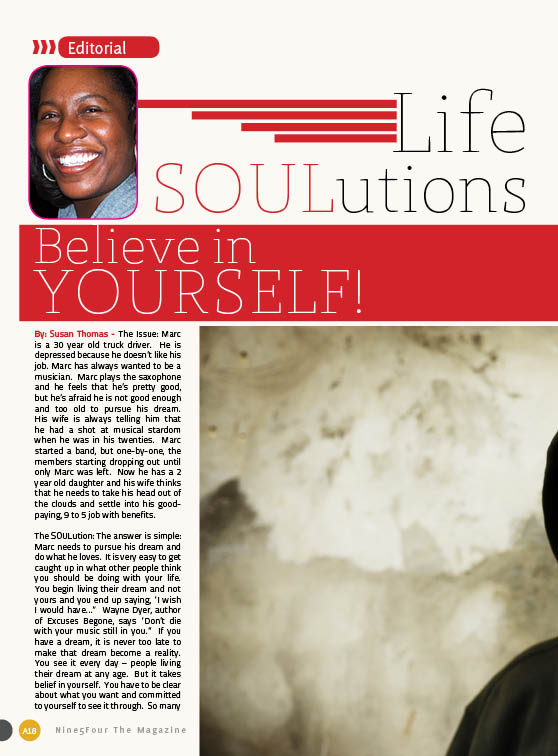 Life SOULutions: Believe in YOURSELF!