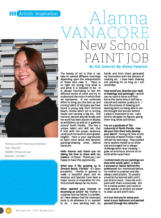 Artistic Inspiration: Alanna VANACORE New School Paint Job