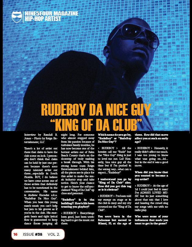 Nine5Four The Magazine October Rap Feature