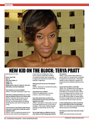 NEW KID ON THE BLOCK: TERYA PRATT